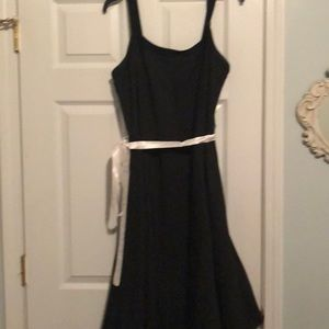 EUC black & gray pinstripe RubyRox cocktail dress